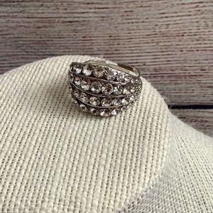 Adjustable Faux Diamond Ring